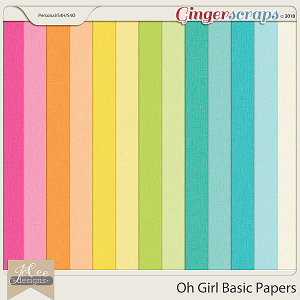 Oh Girl Basic Papers by JoCee Designs