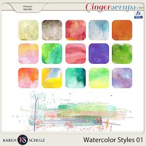Watercolor Styles 01 by Karen Schulz