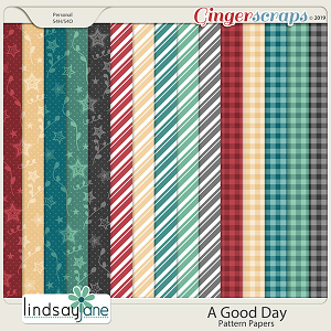 A Good Day Pattern Papers by Lindsay Jane