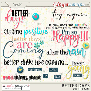 Better Days - Word Art - by Neia Scraps