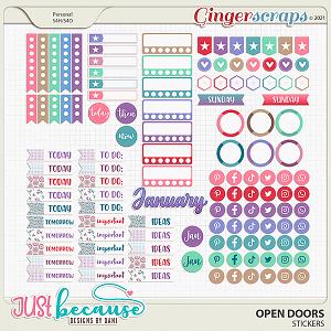 Open Doors Stickers by JB Studio