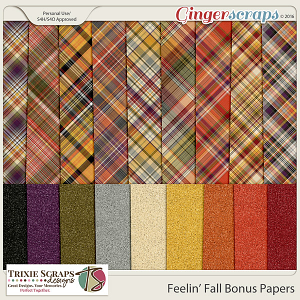 Feelin' Fall Bonus Papers by Trixie Scraps Designs