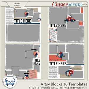 Artsy Blocks 10 Templates by Miss Fish