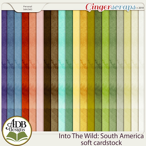 Into The Wild South America Solid Papers by ADB Designs