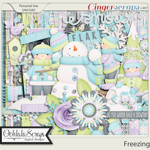 Freezing Add On Digital Scrapbooking Kit