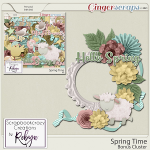 Spring Time Bonus Cluster by Scrapbookcrazy Creations