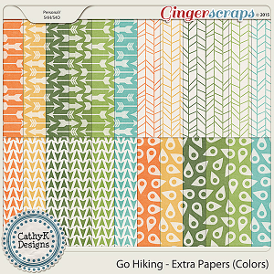 Go Hiking - Extra Papers Colors