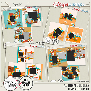 Autumn Cuddles - Templates Bundle - by Neia Scraps and JB Studio
