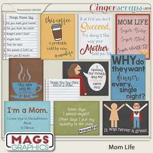 Mom Life JOURNAL CARDS by MagsGraphics