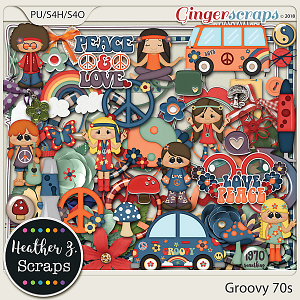 Groovy 70s ELEMENTS by Heather Z Scraps