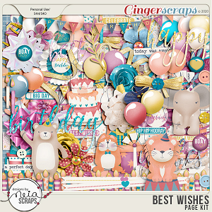 Best Wishes - Page Kit - by Neia Scraps