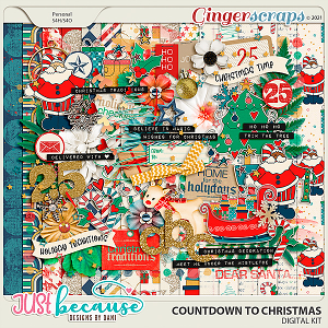 Countdown to Christmas Digital Kit by Just Because Studio