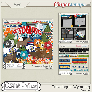 Travelogue Wyoming - Bundle Pack by Connie Prince
