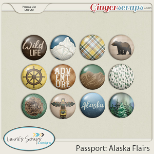 Passport Alaska Flairs