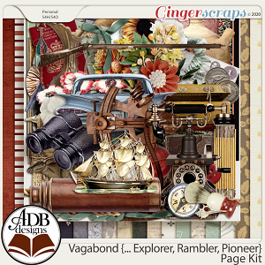 Vagabond, Explorer, Rambler, Pioneer Page Kit by ADB Designs