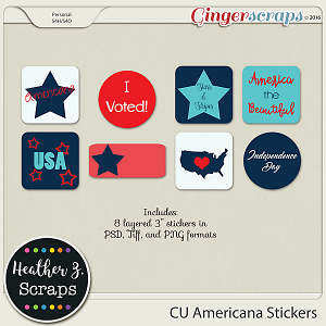 CU Americana STICKERS by Heather Z Scraps