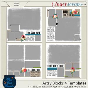 Artsy Blocks 4 Templates by Miss Fish