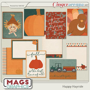 Happy Hayride JOURNAL CARDS by MagsGraphics