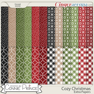 Cozy Christmas - Extra Papers by Connie Prince