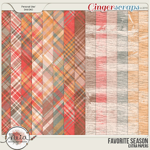 Favorite Season - Extra Papers - by Neia Scraps
