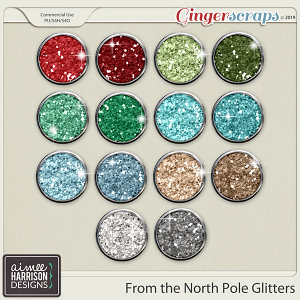 From the North Pole Glitters by Aimee Harrison