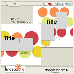 Random Pieces 6 Templates by Lindsay Jane