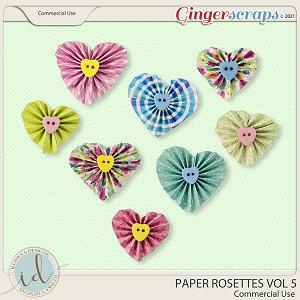 CU Paper Rosettes Vol 5 by Ilonka's Designs