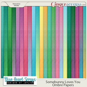 Somebunny Loves You Ombre Papers