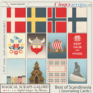 Best of Scandinavia (journaling cards)
