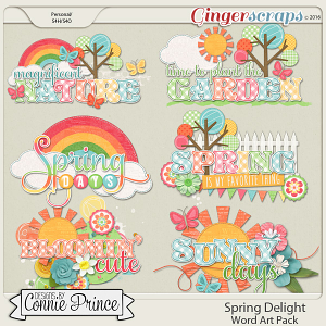 Spring Delight - Word Art