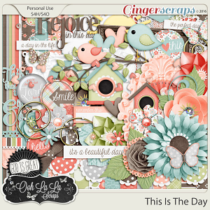 This Is The Day Digital Scrapbooking Kit