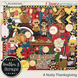 A Nutty Thanksgiving KIT by Heather Z Scraps