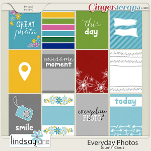 Everyday Photos Journal Cards by Lindsay Jane