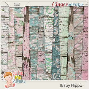 Baby Hippo Wood Papers