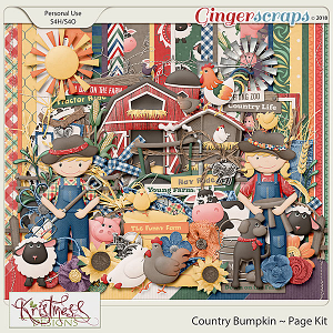 Country Bumpkin Page Kit