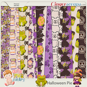 Halloween Pie-Extra Papers