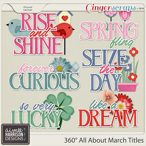 360° All About March Word Art Titles by Aimee Harrison