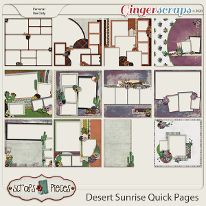 Desert Sunrise Quick Pages by Scraps N Pieces