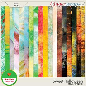 Sweet Halloween - magic papers