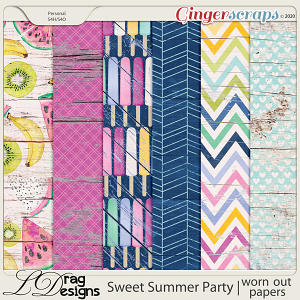 Sweet Summer Party: Worn Out Papers by LDragDesigns