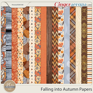 Falling into Autumn Papers by JoCee Designs