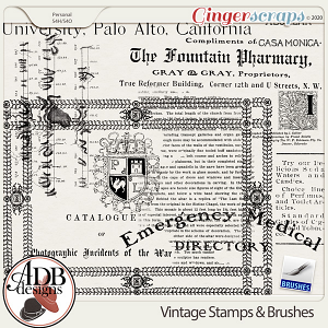 Heritage Resource Vintage Stamps & Brushes by ADB Designs