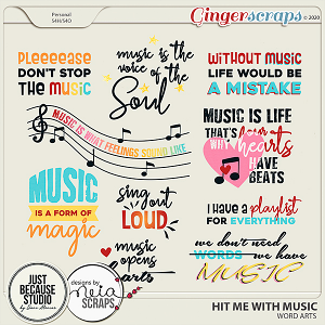 Hit Me With Music Word Arts by JB Studio and Neia Scraps