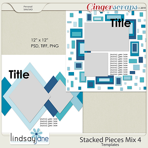 Stacked Pieces Mix 4 Templates by Lindsay Jane