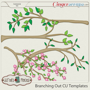Branching Out CU Layered Templates - Scraps N Pieces