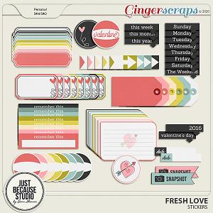 Fresh Love Stickers by JB Studio