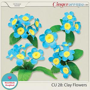 CU 28 - Clay flowers