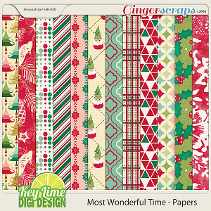 Most Wonderful Time - Patterned Papers