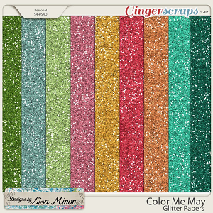 Color Me May Glitter Papers from Designs by Lisa Minor