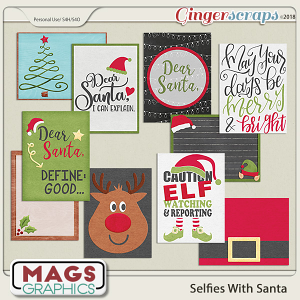 Selfies With Santa JOURNAL CARDS by MagsGraphics